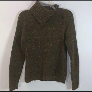 Isabella Bird Angora Tweed Sweater high neck Sz M